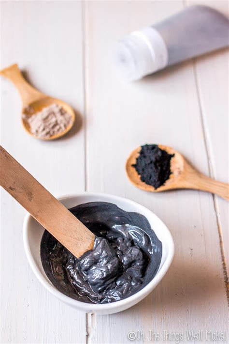 diy charcoal mask diy charcoal mask for acne prone skin oh the things we ll make