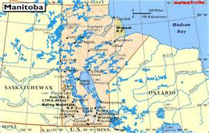 map of manitoba canada canada provincial map of manitoba