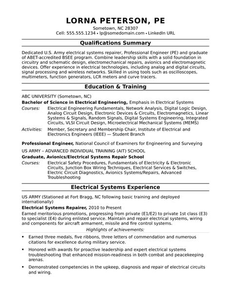 electrical engineer resume objective electrical engineering