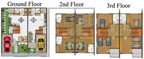 Two Story House Plans With Basement 4 Storey Residential Building Floor Plan