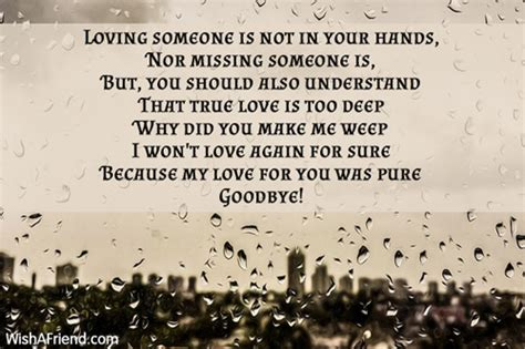 Goodbye Letter Sle For A Loved One Goodbye Poems