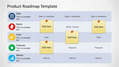 Product Roadmap Template roadmap table design for powerpoint slidemodel