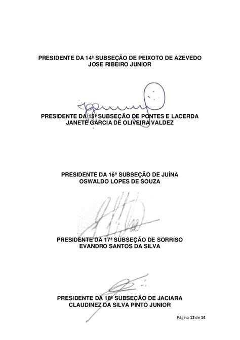 CARTA ABERTA DA OAB/MT - REFORMA POLÍTICA