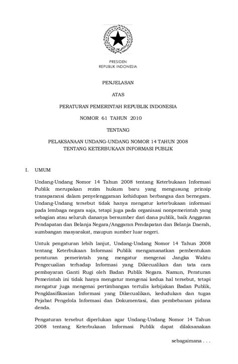 Pemerintah Daerah Undang Undang Ri No 23 Tahun 2014 peraturan pemerintah no 61 tahun 2010 tentang pelaksanaan