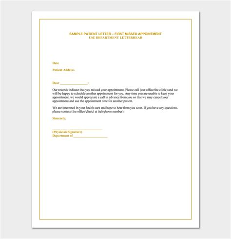 no show appointment letter template no show appointment letter template 28 images