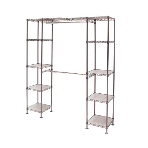Expandable Closet Shelf by Seville Classics 72 In Bronze Expandable Closet Organizer