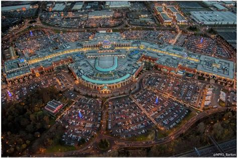 new year at the trafford centre 2016 stunning aerial image captures an illuminated trafford