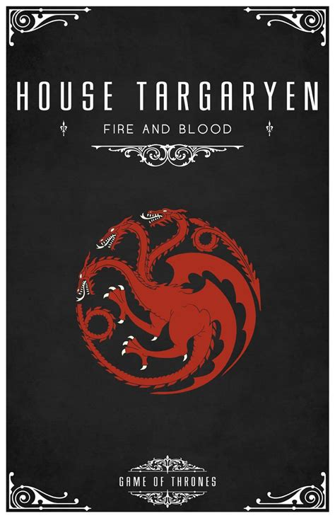 haus targaryen house targaryen of thrones