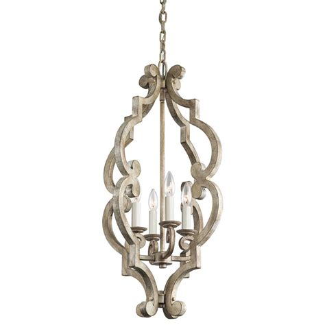 Distressed White Chandelier 43255daw Kichler 43255daw Chandelier Foyer 4 Lt In Distressed Antique White Goinglighting