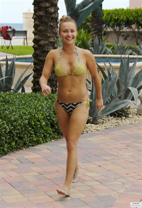 tamoron hall oops hayden panettiere bikini candids in miami beach 63
