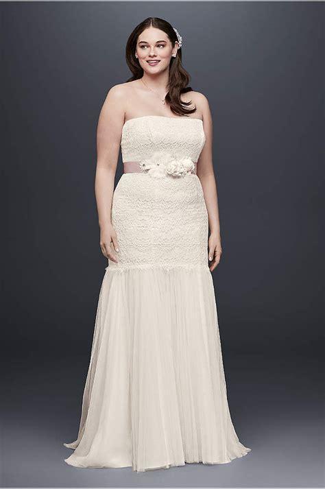 beaded trumpet plus size wedding dress david bridal