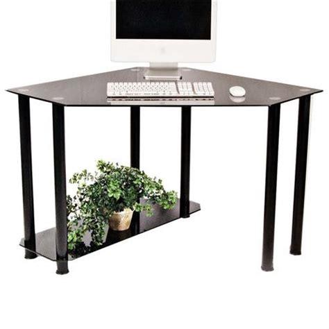 Black Glass Computer Desk Rta Glass Corner Computer Desk Black Glass Ct 013b