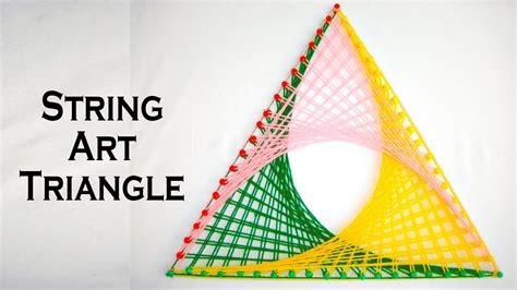 Triangle String - string patterns how to make string triangle p