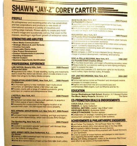 Z Resume by Z S Resume Jayz Resumes