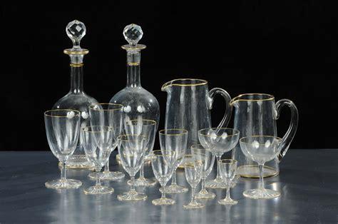 servizio bicchieri cristallo servizio di bicchieri in cristallo completo di brocche e