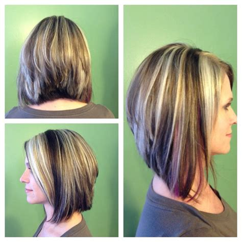 shorter hair styles that swing hilights and lowlights of blonde and dark chocolate long