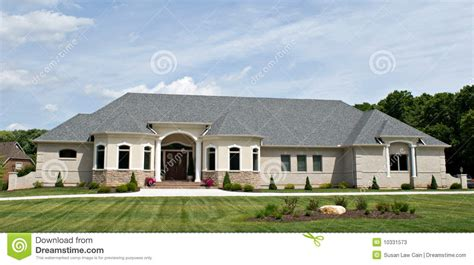 large ranch style homes luxury home stock photos image 10331573