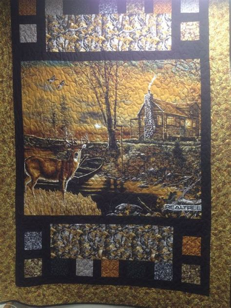 Wildlife Quilt by Machine Quilted Quot Autumn Buck Quot Wildlife Quilt 54 5 Quot X 68 5 Quot