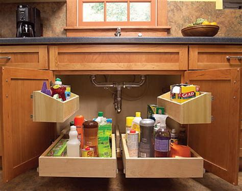 Under Sink Kitchen Cabinet by Creative Under Sink Storage Ideas Hative