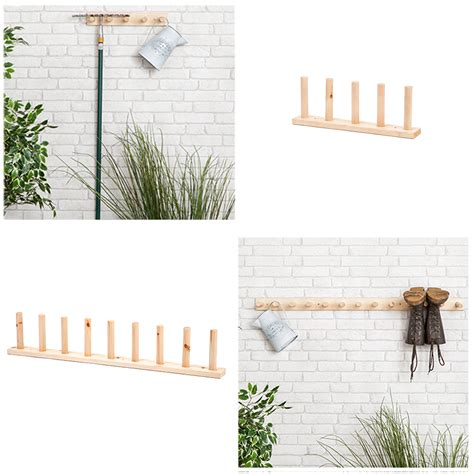 wall welly rack 6 pair wooden wall mounted welly rack hanging wellington