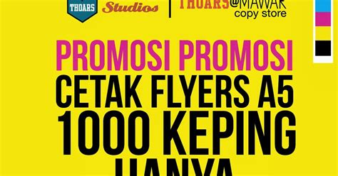 design flyers murah the house of art studios promosi cetak flyers a5 murah