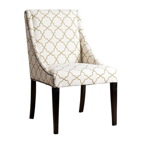 Bowery Hill Nailhead Upholstered Dining Chair In Mahogany Nailhead Upholstered Dining Chairs