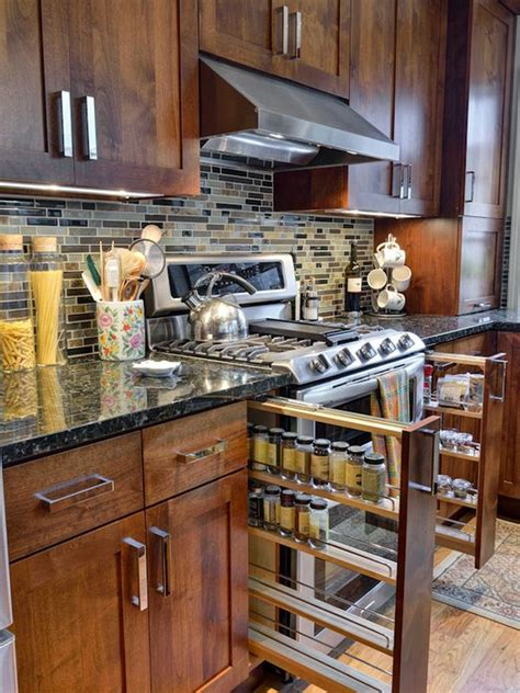 slide out spice racks for kitchen cabinets kitchen makeover 28 kitchen amenities you ll wish you
