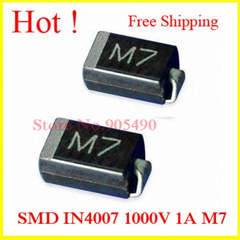 1n4007 smd diode m7 diode 1n4007 smd diodes smd in4007 1000v 1a m7 sma do 214ac smd rectifier diode quality