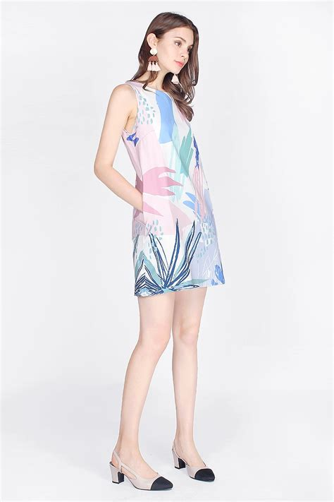 Dress Rumi fayth rumi printed shift dress