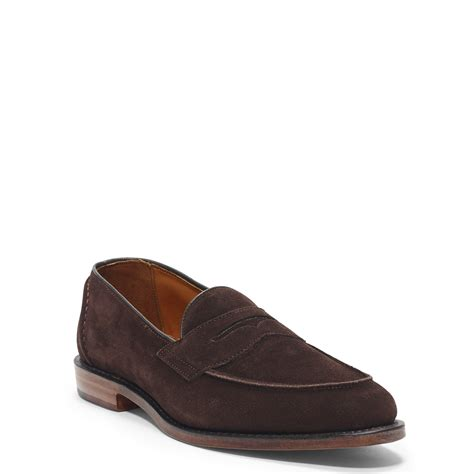 brown polo loafers polo ralph singleton suede loafer in brown