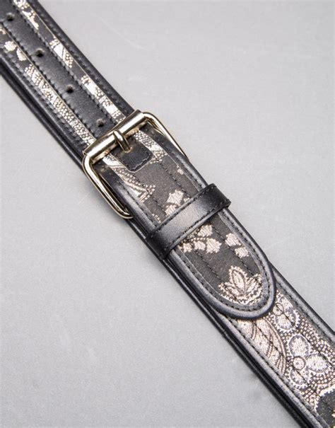 Jacquard Belt black jacquard belt roberto verino