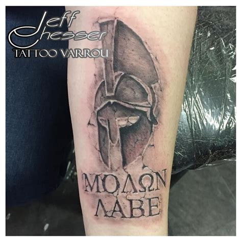 stone tattoo spartan hemet molon labe tattoos by me