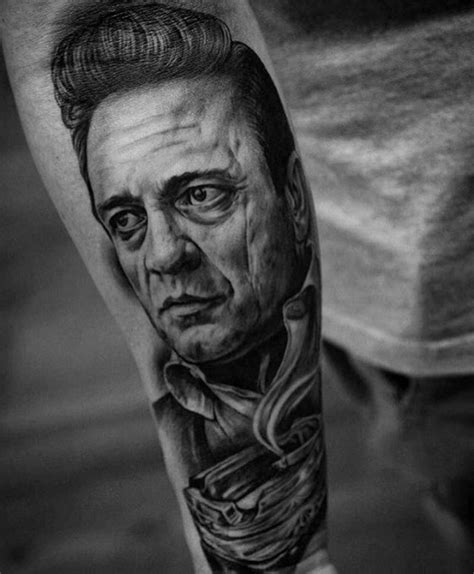 3d johnny tattoo 50 johnny cash tattoo designs for men musician ink ideas