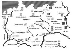 Concentration Camps In Germany Map by The American Israel Numismatic Association Article