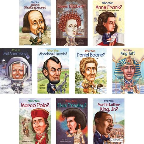 biography book series who was complete book set