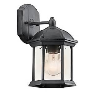kichler outdoor lighting catalog kichler 49183bk black painted barrie collection 1 light