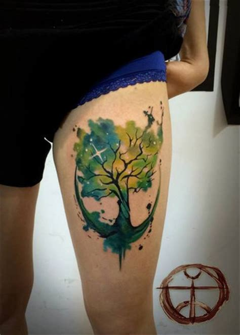 watercolor tattoo tree 31 amazing watercolor tattoos gallery
