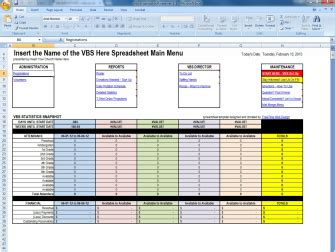 Free Vbs Spreadsheet Template Vacation Bible School Spreadsheet Free Vbs Templates Vbs Schedule Template