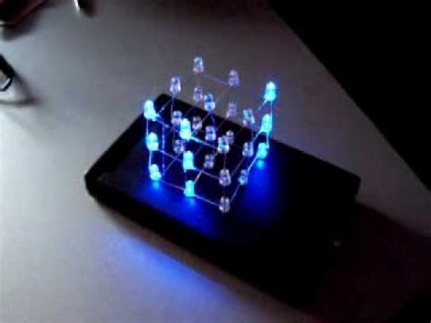 led cube 3x3x3 *** [with case and 22 animations / effects
