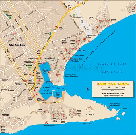 map of cabo san lucas cabo map travel