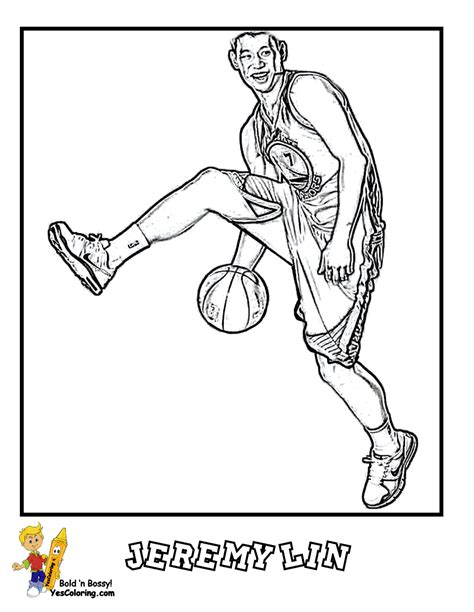 coloring pages nba basketball players big bounce basketball printables pro basketball west