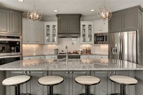 Kitchen Work Tables Islands by Moon White Granite Countertops Transitional Kitchen