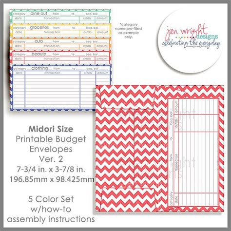 7 best images of printable money envelope system budgeting 17 best images about making midori s on pinterest