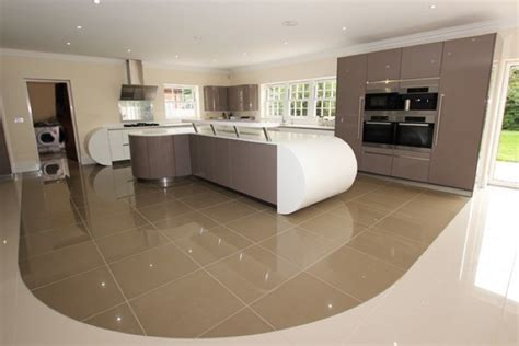 Curved Island Kitchen Designs basalt grey lacquer kitchens from lwk kitchens