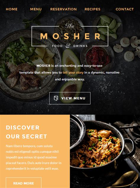 catering email template mosher restaurant email template buy premium mosher