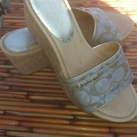 Promo Burberry 4725 84 coach shoes authentic coach signature wedges nwot from s closet on poshmark
