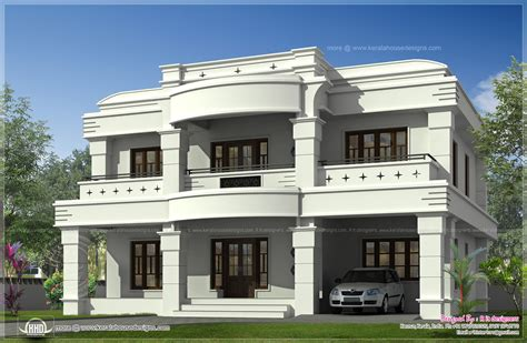 home front design double storied luxury home exterior kerala design floor