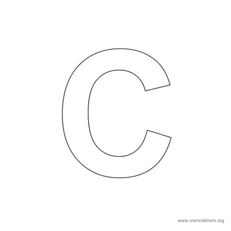 large letter c template resume format letter c stencil