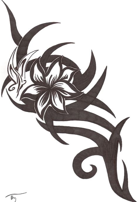 tribal flower butterfly tattoo by lechadias on deviantart