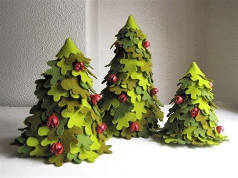 diy creative handmade felt trees  template